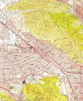 Vintage Map of Burbank California (1953)