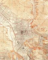 Vintage Map of Glendale California (1928)