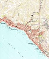 Vintage Map of Laguna Beach California (1965)