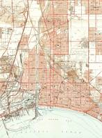 Vintage Map of Long Beach California (1949) 2