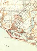 Vintage Map of Newport Beach California (1951)