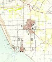 Vintage Map of Oxnard California (1949) 2