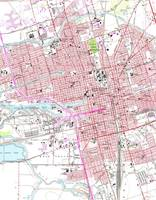 Vintage Map of Stockton California (1968)