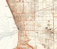 Vintage Map of Redondo Beach & Torrance CA (1934)
