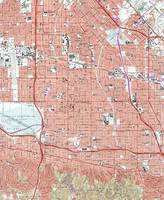 Vintage Map of Van Nuys California (1966)