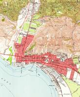 Vintage Map of Ventura California (1951)