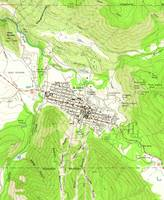 Vintage Map of Aspen Colorado (1960)