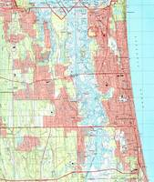 Jacksonville Beach and Atlantic Beach Florida Map