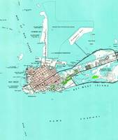 Vintage Map of Key West Florida (1962)