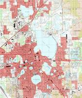 Lakeland Florida Map (1994)