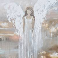 """""Delicate Strength"" Angel Painting"" by ChristineBell"