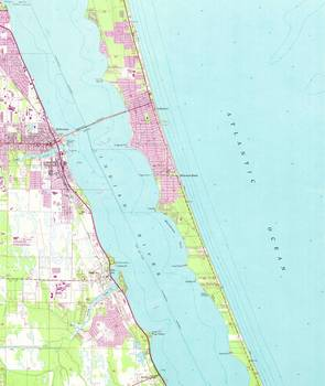 Melbourne Florida Map.Vintage Map Of Melbourne Florida 1949 By Alleycatshirts Zazzle