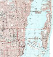 Miami Florida Map (1988)