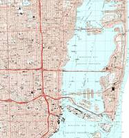 Miami Florida Map (1994)