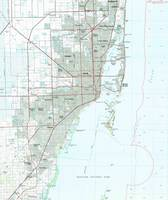 Miami Florida Map (1981)
