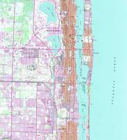 Vintage Map of Palm Beach Florida (1946) 2