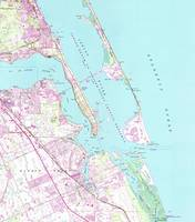 Vintage Map of Port St Lucie Inlet (1948)