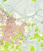 Vintage Map of Savannah Georgia (1955)