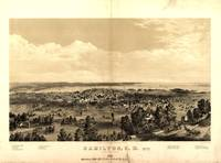 Vintage Pictorial Map of Hamilton Ontario (1859)