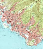 Honolulu Hawaii Map (1983)