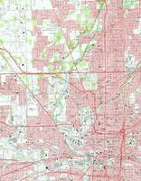 Vintage Map of Indianapolis Indiana (1967)