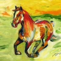 GallopingHorse_PRINT Art Prints & Posters by Darlene Twitchell