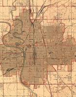 Vintage Map of Wichita Kansas (1943)