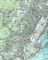 Newark NJ and Surrounding Areas Map (1986)