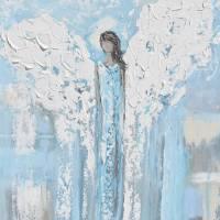 """""Heaven Sent"" Angel Print"" by ChristineBell"