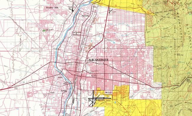 Stunning Albuquerque Map Artwork For Sale On Fine Art Prints - Albuquerque map