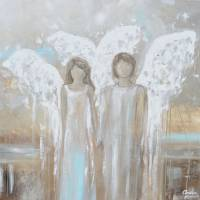 """""Always Yours"" - Angels Painting"" by ChristineBell"