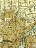 Vintage Map of Toledo Ohio (1938)