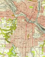 Vintage Map of Youngstown Ohio (1951)