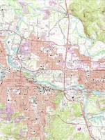 Vintage Map of Eugene Oregon (1967)
