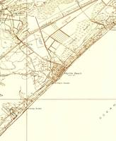 Vintage Map of Myrtle Beach South Carolina (1937)