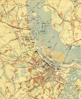 Vintage Map of Savannah Georgia (1942)