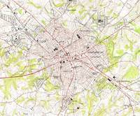 Vintage Map of Spartanburg South Carolina (1949)