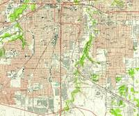 Vintage Map of Fort Worth Texas (1955)