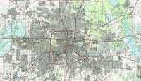 Houston Texas Map (1992)