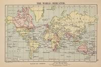 Vintage Map of The World (1914)
