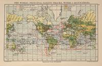 Vintage World Sailing Routes Map (1914)