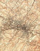Vintage Map of Charlottesville Virginia (1960)