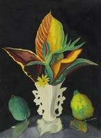 Joseph Stella 1877 - 1946 CROTON LEAVES IN A VASE