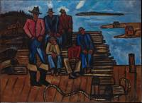 Lobster Fishermen, Marsden Hartley