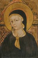 Ligurian School A Female Saint, Possibly The Virgi