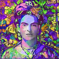 Purple Frida in the butterflies
