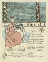 Menu Chat Noir George Auriol (1863 - 1938)