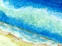 Abstract Seascape Beach Painting A1