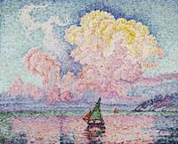 Pink Clouds, Antibes by Paul Signac