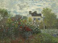 The Artist's Garden in Argenteuil - Claude Monet